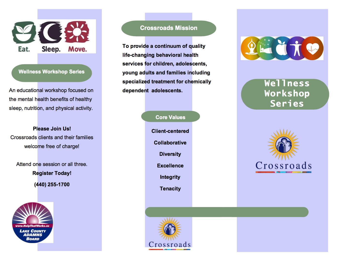 Crossroads' Wellness Workshop Series
